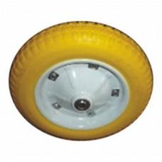 Колесо полиуретановое PU3008 13*3.00-8, 340*76 мм, 130кг, желтое, d16, к тачке WB6203