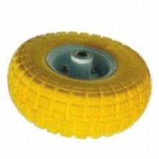 Колесо полиуретановое PU3504-2 10*3.5-4, 260*80мм. 130кг, желтое