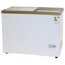 Морозильный ларь WILLMARK FSL-300X-4 (стеклянная дверь, 4 корзины, замок, белый)