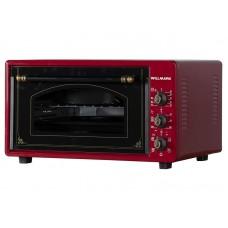 Духовка электрическая WILLMARK WOF-365RG (36л,таймер,противень 2шт.,решетка,темно-красный,1300Вт)