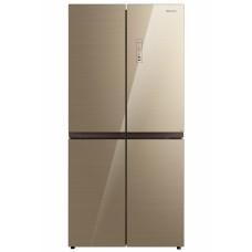 Холодильник WILLMARK MDC-617NFBG (456л, Side-By-Side, Total NoFrost, A+, стекл. панели, бежевый)