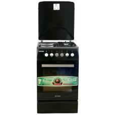 Плита комбинированная OPTIMA  CS-5621 (стац., 2 газ./2 эл. конфорки, эл. духовка, 50х60) Черный