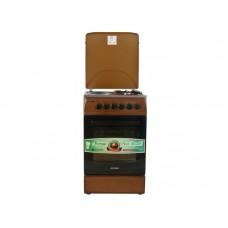 Плита комбинированная OPTIMA  CS-5622 (стац., 2 газ./2 эл. конфорки, эл. духовка, 50х60, коричневый) Коричневый