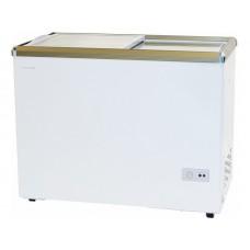 Морозильный ларь WILLMARK FSL-450X-4 (420л.,до -24С, стеклянная дверь, 4 корзины, замок, белый)