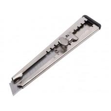 Нож технический Техно 18мм металлический корпус с фиксатором (40/400шт/уп)
