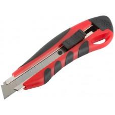 Нож технический Модерн 18мм усиленный прорезиненный (24/240шт/уп)