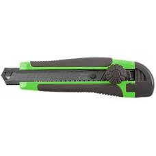 Нож технический Дед Банзай усиленнный, лезвие 100*18*0,5мм, метал. направляющая, вращающийся пластик.прижим (12/144шт)