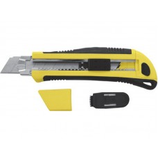 Нож технический 25мм усиленный+кассета 3 лезвия автозамена лезвия (6/36шт/уп)