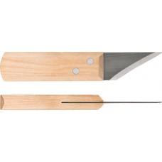 Нож сапожный, деревянная ручка 180 мм