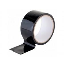 Скотч цветной 48мм/18м черный из полипропиленовой пленки (OPP или BOPP) с нанесенным акриловым клеевым слоем на водной основе