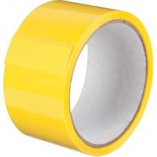 Скотч цветной 48мм/23м желтый из полипропиленовой пленки (OPP или BOPP) с нанесенным акриловым клеевым слоем на водной основе