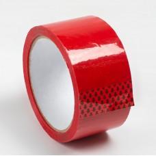 Скотч цветной 48мм/60м красный из полипропиленовой пленки (OPP или BOPP) с нанесенным акриловым клеевым слоем на водной основе