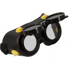 Очки газосварщика с комплектом затемненных и прозрачных минеральных стекол (100шт/уп)