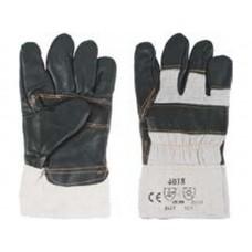 Перчатки рабочие кожаные, с мехом внутри, 10.5, цвета в ассортименте (72шт/уп)
