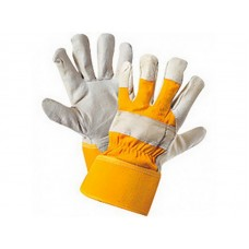 Перчатки ЮКОН кожаные комбинированные (12/168шт/уп)