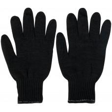 Перчатки вязаные утепленные, полушерстяные, двойной вязки (3 нити)