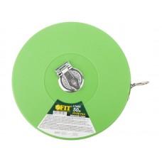 Рулетка землемерная 50м фиброглассовая лента,зеленая (30шт/уп)