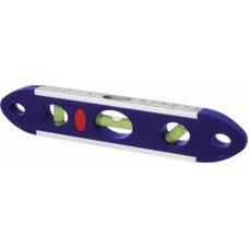Уровень Торпедо 230мм 3 глазка магнитный,пластиковый с алюм.рамкой (20/100шт/уп)