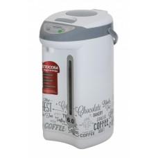 Термопот WILLMARK WAP-6033 (6.0л, 3 сп. налива воды, функц. перекип.,нерж. сталь, 750Вт, цвета) Кофе