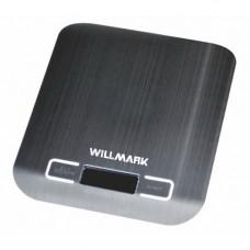 Весы кухонные WILLMARK WKS-312SS (макс 5кг.,вычет веса тары,индик.перегрузки, подсветка, нерж.сталь)