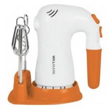 Миксер WILLMARK WHM-6023ST (400Вт, 5 скоростей,2 вида насадок, подставка) Оранжевый