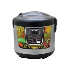 Мультиварка OPTIMA MC-5101 (11 реж., Led-диспл., антиприг.покр.чаши, электр. упр.,аксесс.,5л,900Вт) Черный, цветы