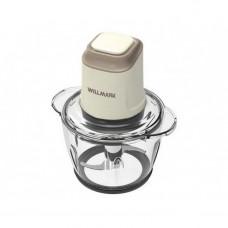 Измельчитель WILLMARK WMC-5288 Кремовый (400Вт., стеклянная чаша 1,2л., двойн. лезвия., рез. основание)