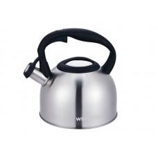 Чайник WILLMARK WTK-3229SS Матовый (2,5л, со свистком, с крышкой, нейлоновая ручка, техн. Easy spout open) Матовый