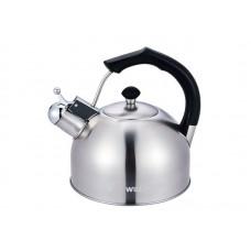 Чайник WILLMARK WTK-3619SS Матовый (3,0л, со свистком, с крышкой, бакелитовая ручка) Матовый
