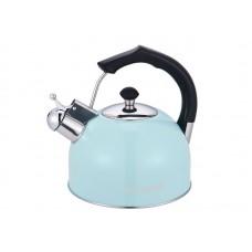 Чайник WILLMARK WTK-3619SS Светло-голубой (3,0л, со свистком, с крышкой, бакелитовая ручка) Светло-голубой