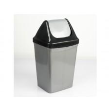 Ведро 15л для мусора с плав/крышкой 6402