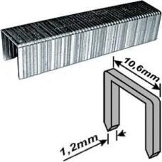 Скобы для степлера 10,6*6*1,2мм 500шт тип 140 широкие (20/300шт/уп)