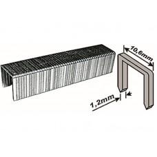 Скобы для степлера 10,6*10*1,2мм 500шт тип 140 широкие (20/240шт/уп)
