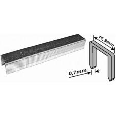 Скобы для степлера 11,3*6*0,7мм 1000шт тип 53 узкие (200шт/уп)