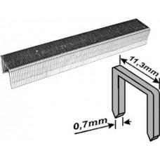 Скобы для степлера 11,3*8*0,7мм 1000шт тип 53 узкие (200шт/уп)