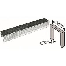 Скобы для степлера 11,3*6*0,7мм 1000шт тип 53 узкие каленые (20/300шт/уп)