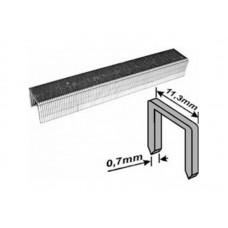 Скобы для степлера 11,3*10*0,7мм 1000шт тип 53 узкие каленые (20/240шт/уп)