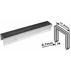 Скобы для степлера 11,3*4*0,7мм 1000шт тип 53 узкие (20/300шт/уп)
