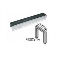 Скобы для степлера 11,3*8*0,7мм 1000шт тип 53 узкие (20/300шт/уп)