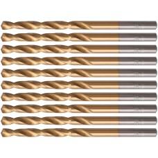 Сверла HSS по металлу, титановое покрытие 4,5 мм (10 шт.)
