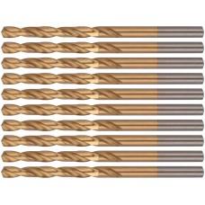 Сверла HSS по металлу, титановое покрытие 5,0 мм (10 шт.)