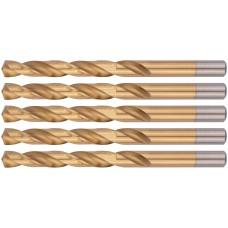 Сверла HSS по металлу, титановое покрытие 10,0 мм ( 5 шт.)