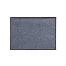Коврик влаговпитывающий Ребристый 40*60см серый полиэстер, ПВХ (15)