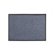 Коврик влаговпитывающий Ребристый 60*90см серый полиэстер, ПВХ (10)