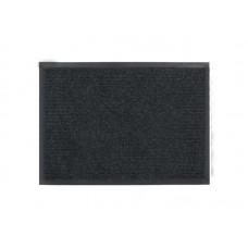 Коврик влаговпитывающий Ребристый 60*90см черный полиэстер, ПВХ (10)