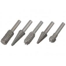Шарошки металлич. для фигурных отверстий по дереву 5 шт. (20/100шт/уп)