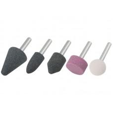 Шарошки абразивные для фигурных отверстий по камню 5 шт. (большие) (25/100шт/уп)