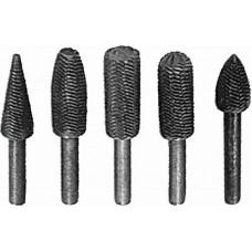 Шарошки металлические для фигурных отверстий, по металлу 5 шт. (12/72шт/уп)