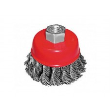 Корщетка-чашка 100мм М14 для УШМ стальная витая (60шт/уп)
