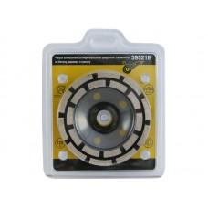 Чаша алмазная шлиф.для УШМ шир.сегменты 125х22.2 выр.кромки,шлиф,полировки 39521Б (10/20)